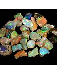 ATOZ SHOPPING Amazing Quality Natural Ethiopian Opal Rough Lot 1 Piece (1.00ct,3.00ct,5.00ct,) Amazing Multi Fire Welo Fire Opal Rough Untreated Rough Raw Gemstone, Black Opal Rough (mix fire 3 carat)