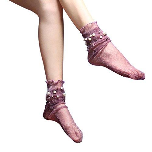♥Artikelmerkmale ♥Geschlecht: Frauen ♥Saison: Sommer ♥Material: Nylon + Spandex ♥Dekoration: Blumen ♥Mustertyp: solide ♥Dicke: dünn ♥Paket enthalten: 1 Paar Socken