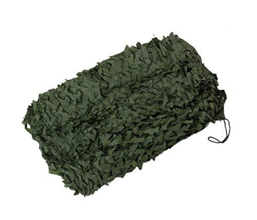 Filet de camouflage vert, couverture de filet de protection solaire de filet de pare-soleil de filet de protection de filet de Camo Net pour la chasse tirant la visière de poussière de voiture campant