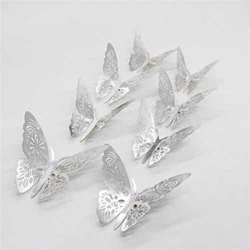 Dylung 3D Schmetterlinge Kinderzimmer Wandtattoo Aufkleber Abziehbilder Wand-dekor Schmetterling Aufkleber Wandsticker Wandtattoo Wanddeko für Wohnung, Raumdekoration