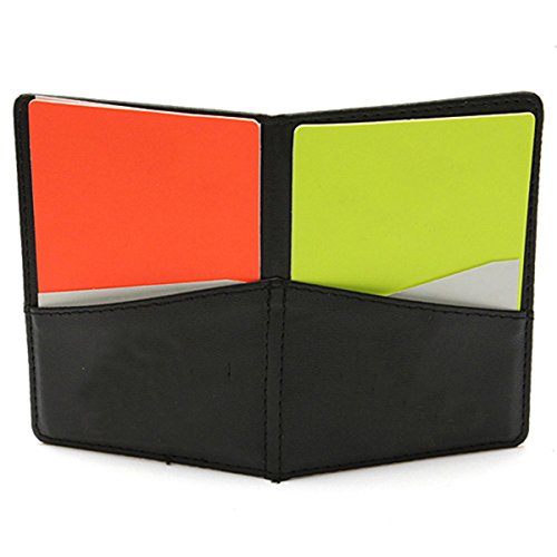 Neue Fuball-Schiedsrichter Brieftasche Mit Roter Karte Und Gelbe Karte