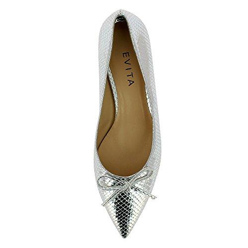 Evita Shoes Franca, Scarpe col tacco donna Argento