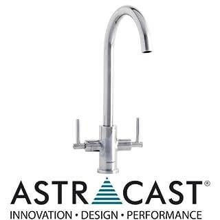 Astracast Victory Edelstahl Hebel Wasserhahn (Edelstahl, Wasserhahn, doppelt, 40,7cm)