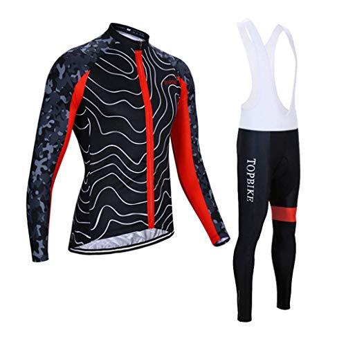 arm Frühling und Sommer Herren Fahrrad Service Mountainbike Ausrüstung Jacke Hose (Farbe: ROT, Größe: M) ()