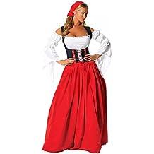 I-CURVES mujeres oktoberfest festival de cerveza alemana cerveza doncella bávara disfraza outift tamaño (