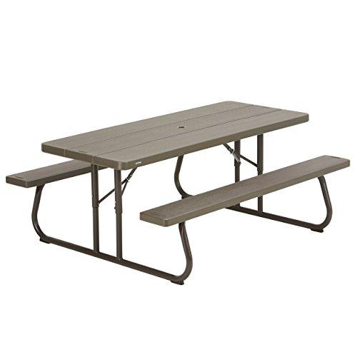 Lifetime Tisch-Picknick Klapptisch braun 183x 76x 73,7cm 60112