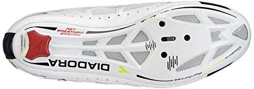 Diadora VORTEX Racer, Scarpe da ciclismo donna Bianco (Weiß (weiß/schwarz 3510))