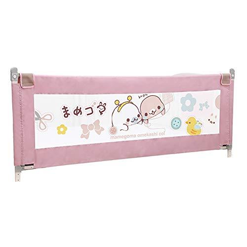 Bettgitter Bedrail Guard Extra Hochbettschiene Portable Klappbett Geländer für Kleinkind Baby und Kinder (180cm) (Farbe : Pink)