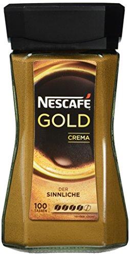 Nescafé Gold Crema, Löslicher Kaffee, 200g Glas
