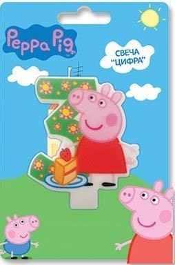 Peppa Pig Kuchendekoration für 3 Jahre Backen Dessert Dekorationen Happy Birthday Urlaub Jahrestag Jubilee Party Zubehör für Kinder Babyparty Feier (Peppa Pig-happy Birthday)