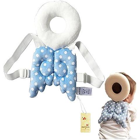 bwinka Cuscino testa e posteriore protezione per neonati/bambini cute Ali goccia Resistenza Pad custode Baby cuscino, per 5–14mesi bambini imparare a camminare o correre