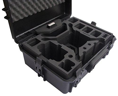 Profi Transportkoffer, Koffer für DJI Phantom 4 Pro / Pro Plus Kopter mit 6 Akkus + Zubehör, wasserdichter Outdoor Case, Hardcase - 5