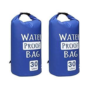 BESPORTBLE 2 Stücke wasserdichte Schwimmende Packsack PVC Leichte Rafting Pack Sack für Kajakfahren Bootfahren Schwimmen (5L Blau)