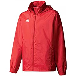 adidas Core 15 Regenjacke Kinder rot/weiß, 128