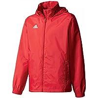 adidas Core 15 Regenjacke Kinder rot / weiß, 164