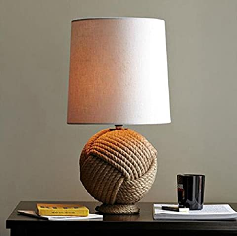 Lozse Creative, hemp, desk lamp, bedroom, study, living room, decoration,