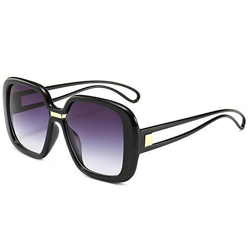 WYJW Shadow Shield Flat Top Übergroße quadratische Aviator Damen Damen Herren Designer Kim K Style Retro Promi-Sonnenbrille