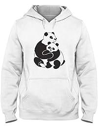 Sweatshirt a Capuche Blanc WES0638 Panda Family Group 9a913ae42e6f