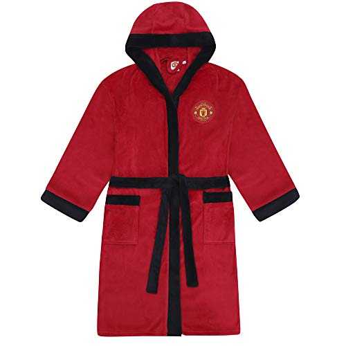 Manchester United FC - Herren Fleece-Bademantel - offizielles Merchandise Fußballfans - Rot - XL Manchester United Fashion