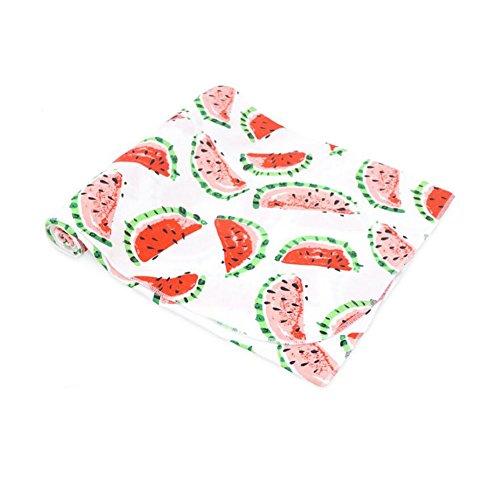 CuteOn Weich & Atmungsaktiv Unisex Baby Baumwolle Swaddling Groß Vielseitig Decken Wassermelone
