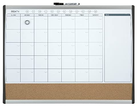 Nobo 102288 Quartet Magnetic Monthly Organiser Combination Board, 585 x 430 mm
