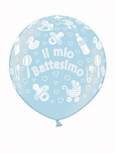 belbal balón látex 1Metro bautizo de metal 073-professionale, Azul, 5beb2504037