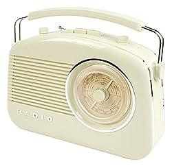 Konig Stylish Retro Table Radio - Beige
