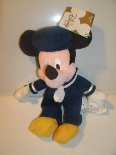 Disney Sailor Mickey 9 Plush Bean Bag Toy UK Exclusive Rare Mickey Mouse by Disney