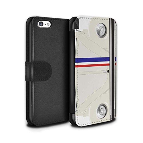 Stuff4 Coque/Etui/Housse Cuir PU Case/Cover pour Apple iPhone 5C / Pack 9pcs Design / Rétro Coccinelle Collection Rayures Course
