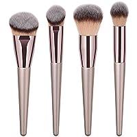 Everpert - Juego de 4 brochas de maquillaje para base de maquillaje, color dorado