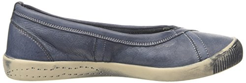 Softinos - Ilma Washed, Ballerine Donna Blu (Blau (navy 519))