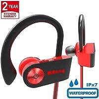 Auriculares Bluetooth Deportivos Impermeables IPX7 Auriculares Bluetooth In-Ear Cascos Inalámbricos con Micrófono, Cancelación