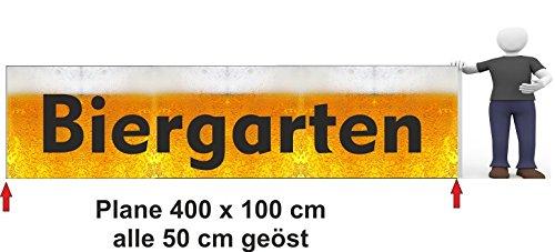Bannière publicitaire Bière Jardin 400 x 100 cm