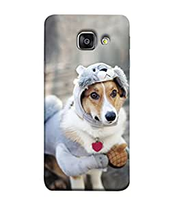 PrintVisa Dog In Warmer 3D Hard Polycarbonate Designer Back Case Cover for Samsung Galaxy A3 (6) 2016 :: Samsung Galaxy A3 2016 Duos :: Samsung Galaxy A3 2016 A310F A310M A310Y :: Samsung Galaxy A3 A310 2016 Edition