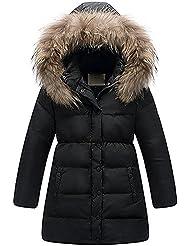Minetom Niñas Princesa Invierno Pelaje Escudo Impermeable Chaqueta Caliente Ropa Nieve Abrigos