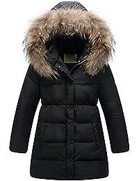 1b0e46310 Minetom Niñas Princesa Invierno Pelaje Escudo Impermeable Chaqueta Caliente  Ropa Nieve Abrigos