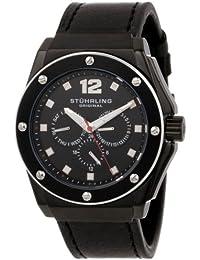 Stührling Original 469.33551 - Reloj analógico para hombre, correa de cuero, color negro