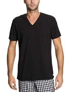 Calvin Klein CALVIN KLEIN WHITE  Short Sleeve Shirt V-Neck U4165A Herren Unterwäsche/ Unterhemden