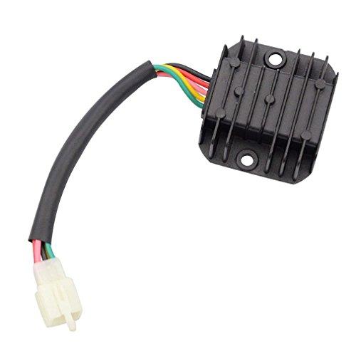 GOOFIT 5 Hilos del regulador de Voltaje del rectificador para GY6 150cc...
