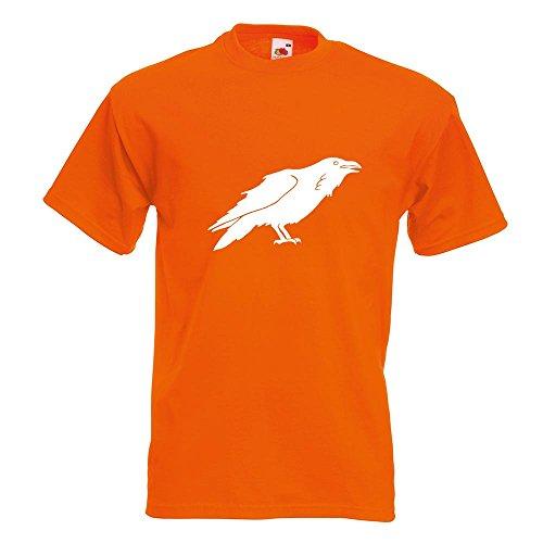 KIWISTAR - Rabe Krähen Corvus T-Shirt in 15 verschiedenen Farben - Herren Funshirt bedruckt Design Sprüche Spruch Motive Oberteil Baumwolle Print Größe S M L XL XXL Orange