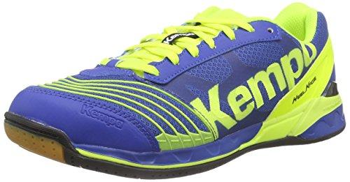 Kempa Attack Two, Chaussures de Handball femme Bleu (Royal/Jaune Fluo)