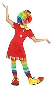 Atosa-22146 Disfraz Payasa, Color Rojo, 5 a 6 años (22146)
