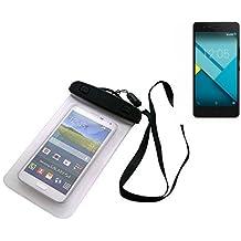 Universal Bolsa de playa / impermeable para lluvia / cubierta de nieve de 16 cm x 10 cm, por ejemplo, para BQ Aquaris M5. Cubierta protectora transparente contra el polvo, la arena, la lluvia y aguas poco profundas para su teléfono celular, Smartphone, GPS, GPS, monederos, dinero en efectivo, objetos de valor. Sensible al tacto material. Su BQ Aquaris M5 se mantiene plenamente operativo, mientras que en el caso. Dimensiones: 16 cm x 10 cm | protecion Beachbag caso protector proteger la playa