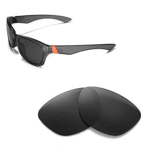Walleva Ersatzgläser für Oakley Jupiter Sonnenbrille - Mehrfache Optionen (Schwarz - polarisiert)