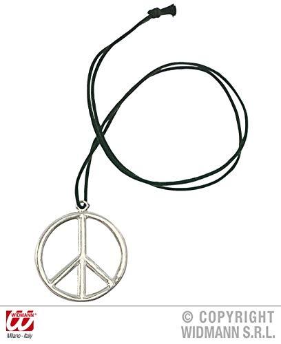 Zubehör Stiefel Kostüm - WIDMANN Hippie-Medaillon Metall Zubehör für Stiefel-Kostüme