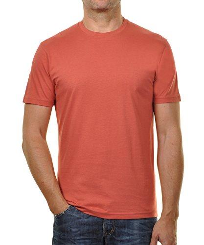 RAGMAN Herren RAGMAN T-Shirt rundhals Singlepack Rost-059