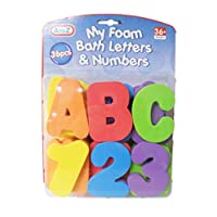 Katies Playpen - Baby Best Buys Fun 36 Pieces Colourful Educational My Foam Bath Letters and Numbers - Suitable From 36 Months
