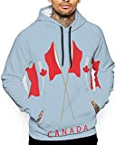 Canadian Maple Leaf Unisex Hoodie Novelty Cool Long Sleeve Pullover Big Pockets Hooded Funny Print Sweatshirt,2XL