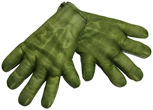 Avengers - Guantes para disfraz de Hulk para niño, talla única infantil (Rubie's 36348)