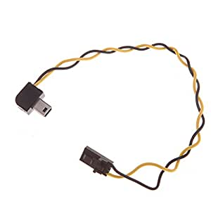 Andoer USB 90 degrés connecteur au câble AV Sortie vidéo FPV pour Gopro Hero 3